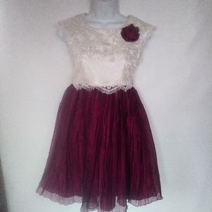 EUC lace and tulle girls party dress